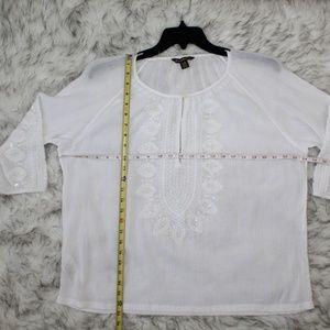 Tommy Bahama Tops - Tommy Bahama White Embellished Blouse 003